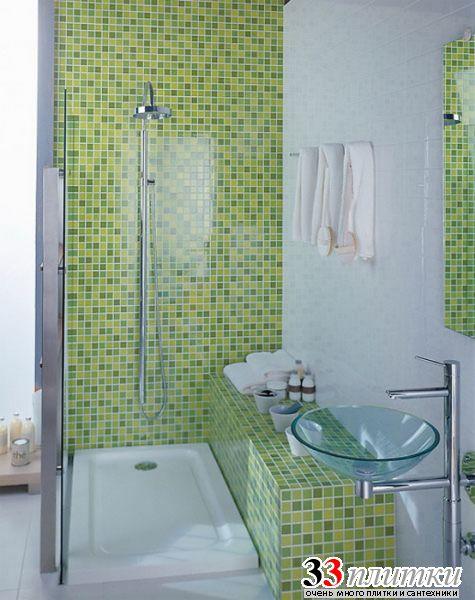 Кафель в маленькая ванная комната дизайн