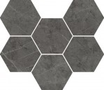 Charme Evo Floor Project Antracite Mosaico Hexagon